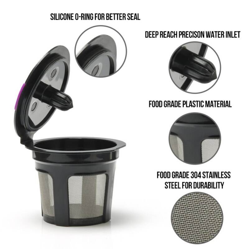 Многоразовая капсула для кофе многоразовый фильтр для кофе держатель Pod совместим с KEURIG 2,0, 1,0 нержавеющая сталь 304 сетка zh1