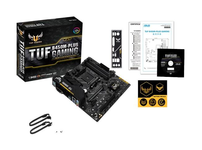 ASUS TUF B450M-PLUS GAMING Desktop Motherboard B450 AM4 Dual Channel DDR4 Micro ATX Motherboard