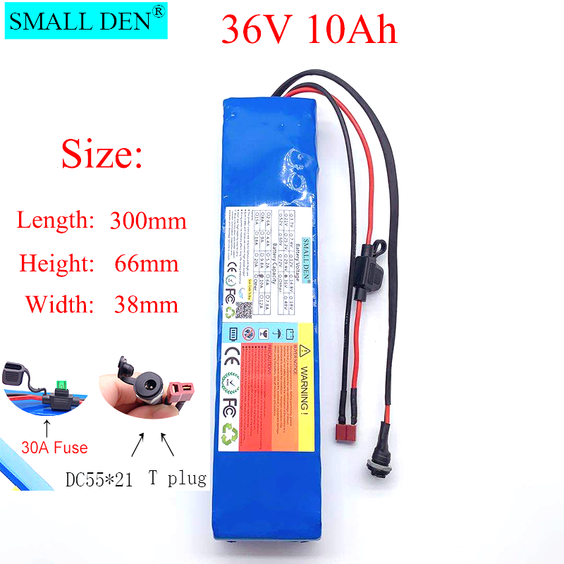 Puck de batería de litio de 36V 18650, 10S3P, 600W o menos, adecuado para scooter E Twow, scooter m365 pro ebike, fuente de alimentación de respaldo