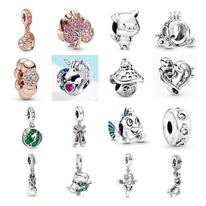 free shipping Halloween gift original skull Mermaid Flounder mom leaf crown diy bead fit Original Pandora charms Bracelet S055(China)