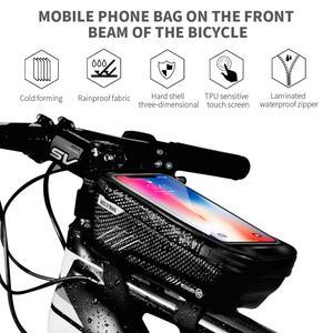 WILD MAN Водонепроницаемая велосипедная сумка 6,5 дюйма, сумки на руль, рама, передняя Труба, велосипедная сумка, держатель для телефона, Сумка с ...