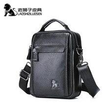 Laoshizi Nieuwe Echt Groenten Lederen Mannen Schoudertas Voor Ipad Mini 7.9Inch Hoge Kwaliteit Messenger Tassen Mannelijke Handtas