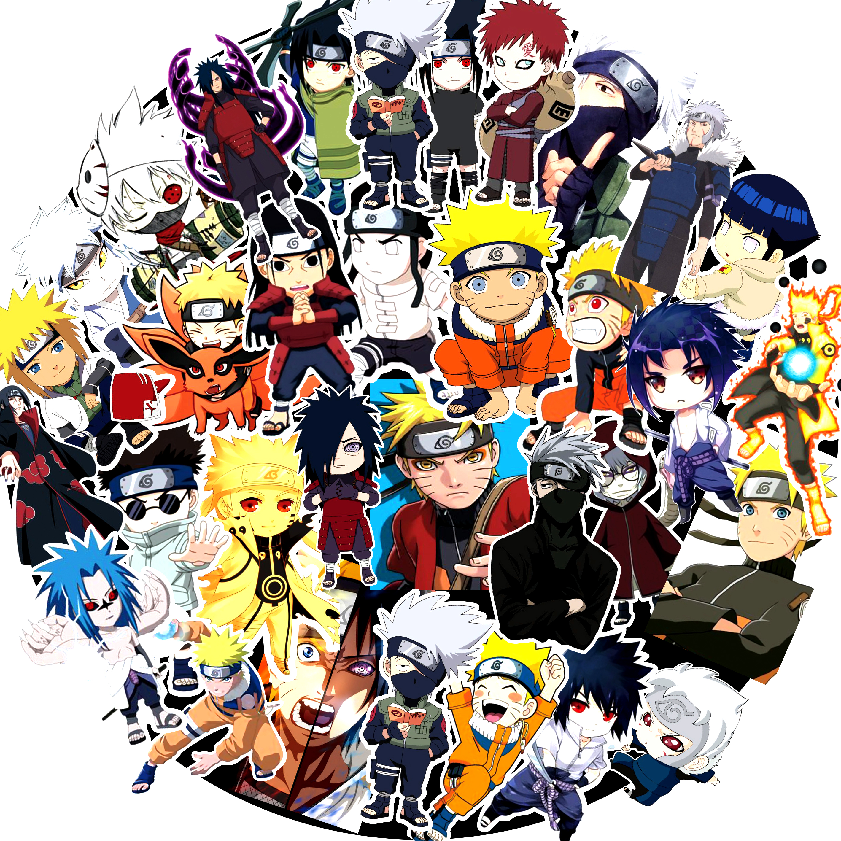 50Pcs/Set  Sticker Japan Anime Naruto Stickers Cartoon For Snowboard Laptop Luggage Fridge Car- Styling Vinyl Decal Sticker