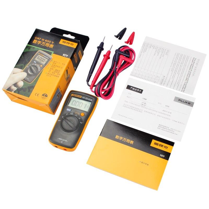 Tools : FLUKE Digital Multimeter F101 KIT F106 F107 Basic Dc Accuracy 0 5percent CAT III 600V Diode Continuity Test Buzzer Automatic Shutdown