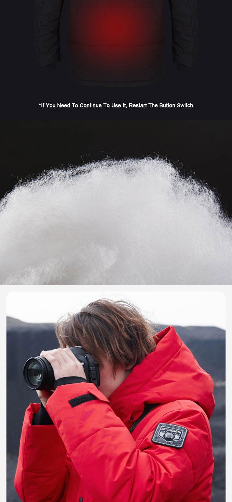 Youpin grafeno aquecimento jaquetas das mulheres dos