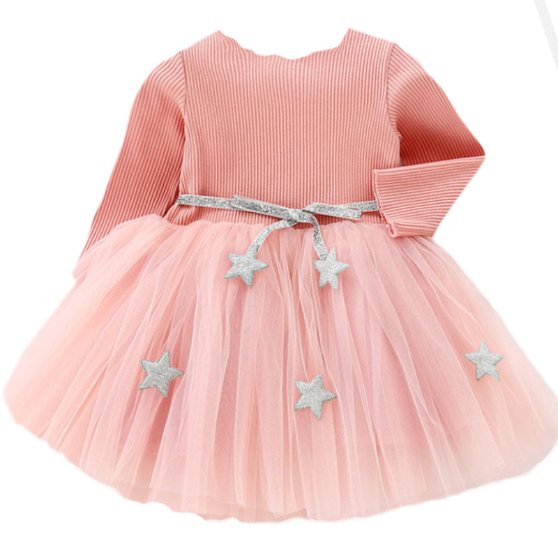 Baby Girls Spring Autumn Sweater Dress Infant Girl's Christmas Children Clothing Toddler Kids Dresses Clothes for 1- 6 Years 2