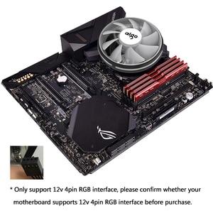 Image 5 - Aigo CPU Cooler 120mm PWM Fan 12V 4Pin RGB Air CPU Cooling Computer LGA 1150 1151 1155 1366 I3 I5 I7 AM3 AM4 Quiet PC CPU Cooler
