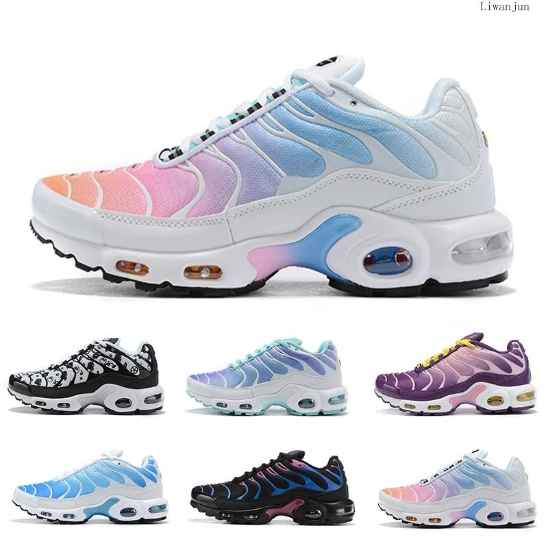 New Rainbow Girl Black Green TN Plus Designer femme Ultra SE Running Shoes Lady Women Silver Gold Orange Athletic Sport Shoe 4-7