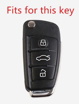 Sợi Carbon Xe Ô Tô-Tạo Kiểu Tự Động Bảo Vệ Vỏ Chìa Khóa Bao Da Ốp Lưng Cho Xe Audi A3 8L 8P A4 B6 B7 b8 C6 4F RS3 Q3 Q7 TT 8L 8V S3
