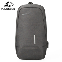 Kingsons 10.1 inch Small Chest Bag For Men Canvas Sling Casual Crossbody Single Shoulder Strap Leisure Bags