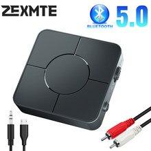 Trasmettitore adattatore Wireless ricevitore Bluetooth 5.0 USB con microfono vivavoce Jack da 3.5mm convertitore AUX RCA Dongle TV altoparlante per auto