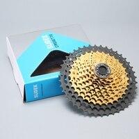 Cassette de velocidad de 11 velocidades para MTB  Cassette para piñón de bicicleta de montaña  Piñón de Cassette negro y dorado de 10s 11-42T para Shimano Sram