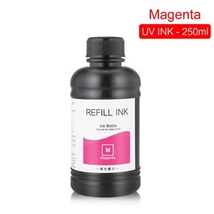 Image 4 - 250ML 4 couleurs/ensemble LED encre UV pour DX4 DX5 DX6 DX7 tête dimpression pour Epson 1390 R1800 R1900 4800 4880 7880 9880 UV imprimante à plat