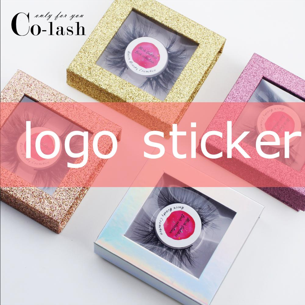 Colash False Eyelash Packaging Box Custom Lash Box Fake 3d Mink Eyelashes Boxes Faux Cils Lash Make Logo Stickers