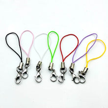 Colorful Cell Phone Lanyard Strap Cords Lariat Mobile Strap Cord With Lobster Clasp Keychain Cords For Jewelry Findings(China)