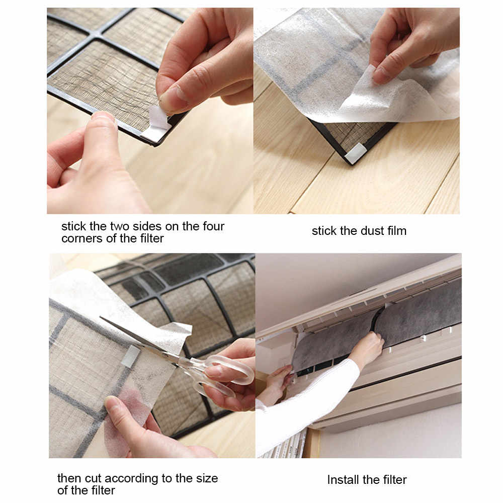 2 Sheet Dustproof Paper Dust Control Office Air Cleaning Filter Home PM 2.5 PET Hotel Livingroom Convenient