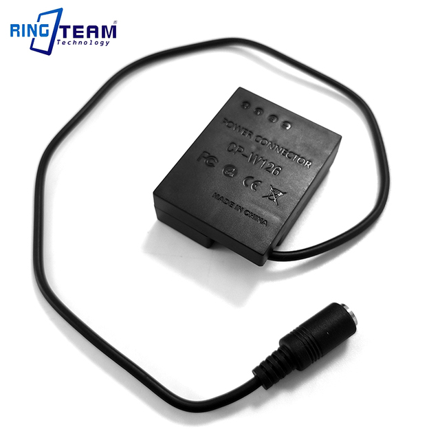 NP W126 Battery DC Coupler W126 CP W126 Power Connector for Fujifim Camera X A1 A2 E1 E2 Pro1 T1 T10 HS30 HS33 HS35 HS50 EXR