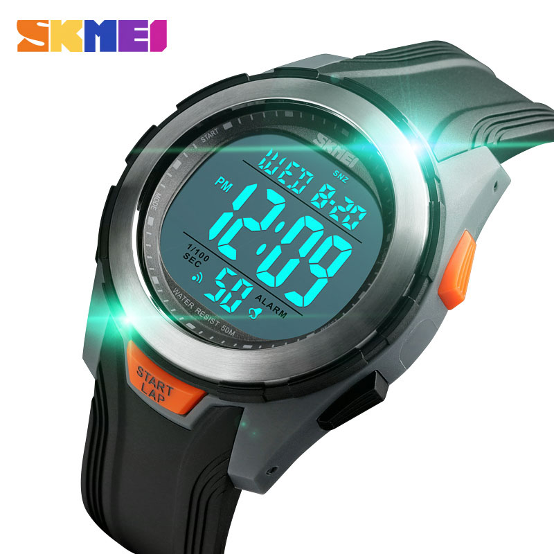 <font><b>SKMEI</b></font> Fashion Men Watches Men Led Digital Watches Multifunction 50M Waterproof Alarm Clock Sports Watches Men montre homme image