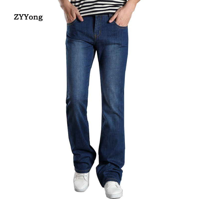 2020 New Mens Sping Flared Jeans Boot Cut Boot Cut Jeans Men Leg Fit Classic Denim Flare Vintage Jeans Male Straight Pants 27-38