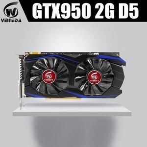 VEINEDA GTX950 карта 2 Гб 128 бит GDDR5 GTX950 видеокарта Geforce Hdmi Dvi