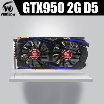 VEINEDA GTX950 Card 2GB 128Bit GDDR5 GTX950 Graphics card Geforce Hdmi Dvi
