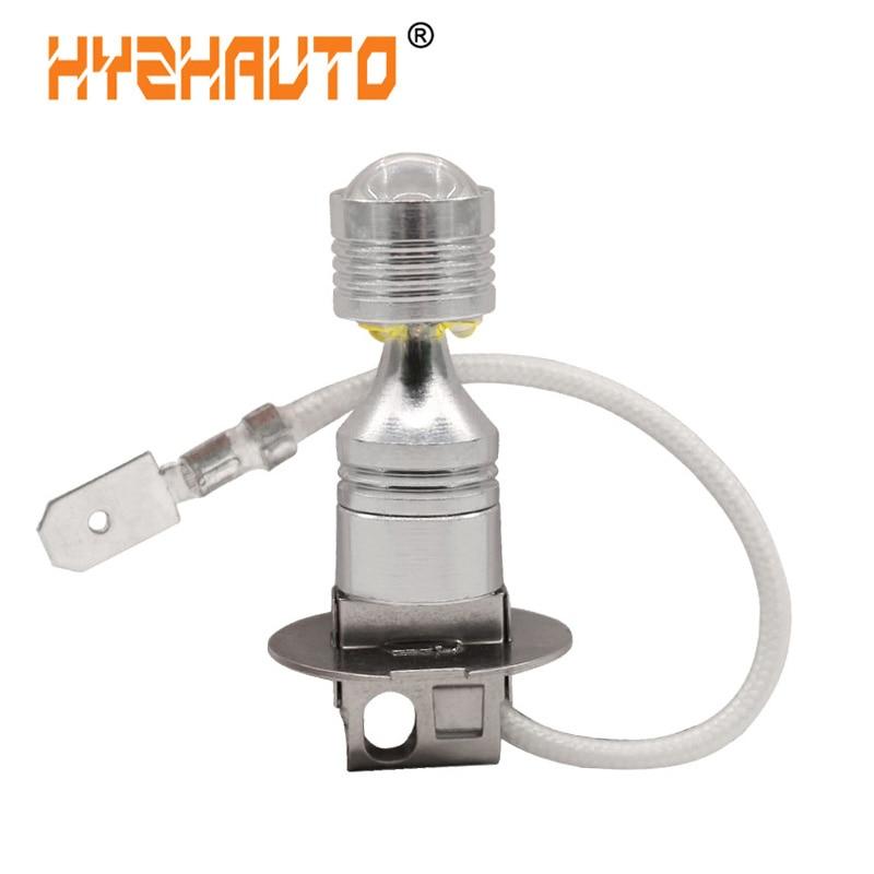 HYZHAUTO 1Pcs H1 H3 LED Bulb White 6-XBD 30W Car Fog Lamp LED DRL Auto External Driving Light 6000K 12V