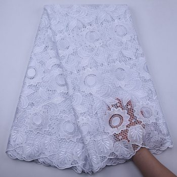 White African Cord Lace Fabric 2020 High Quality Guipure Lace With Stones Water Soluble Nigerian Lace Fabrics For Wedding S1796