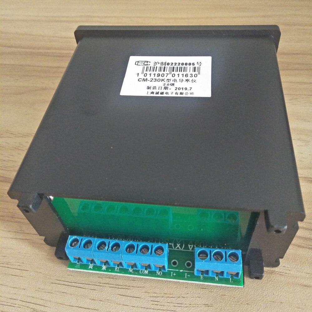 CM-230K en ligne moniteur de conductivité testeur compteur analyseur Contact relais NC 0-1999us/cm erreur 2% FS ATC alarme sortie 4-20mA - 5