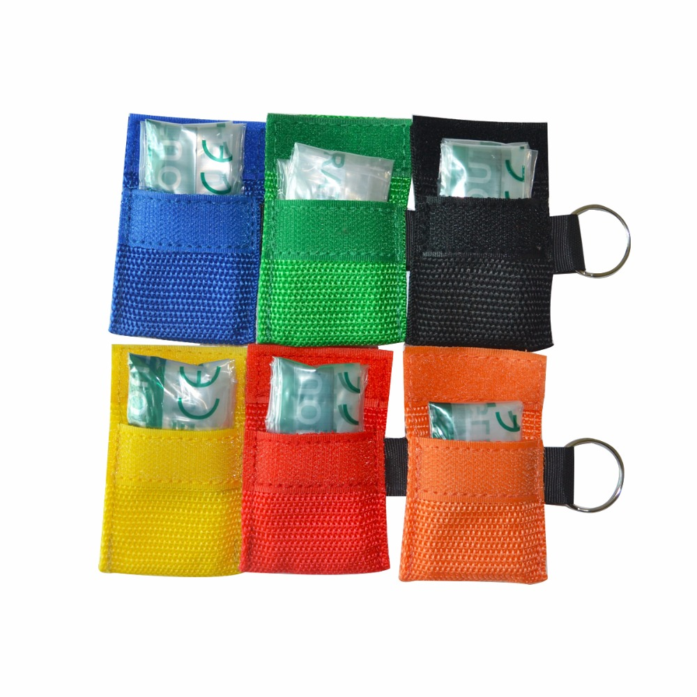 Image 5 - New Keychain Pocket CPR Mask 100Pcs/Pack Face Shield Mask  Resuscitator For First Aid/AED Training Mouth Breathpocket cpr maskcpr  maskcpr pocket mask