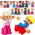 Spielen Haus Puppe Große Bausteine Modell Zubehör Familie Arbeiter Arzt Feuerwehr Spielzeug Für Kinder Kompatibel Bricks Figuren Set