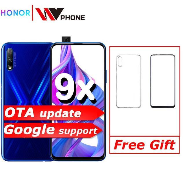 Honor 9x 9x pro Smart Phone Kirin 810 Octa Core 6.59 inch Lifting Full Screen 48MP Dual Cameras 4000mAh GPU Turbo Mobile Phone