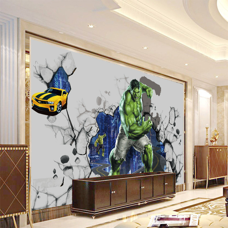 3D Internet Bar Wallpaper Mural Hulk Game Theme Gym Cool Large Mural