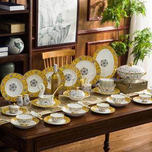 Tableware-Set Dish-Set Ceramic Jingdezhen Wedding-Bone China Household Luxury Gift 80pieces