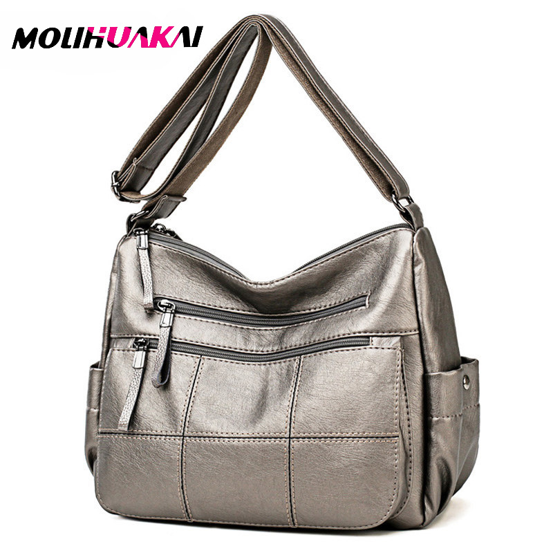 2019 Luxury Thread Handbags Women Bags Designer Soft Leather Bags For Women Crossbody Messenger Bag Ladies Vintage Shoulder Bag