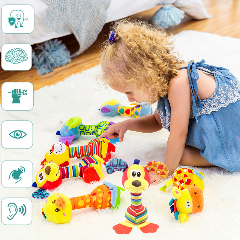 Educational Toys For Children From 1 To 3 Girl Rattle Baby 0 12 Months Infant Up To A Year For Kids Stuff Gift Soft Toy Boys