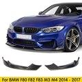 2 шт. углеродное волокно передние Canards губы разветвители для BMW 3 4 Серии F80 F82 M3 M4 2014-2017 автомобиль-Стайлинг