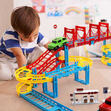 Thomas railway Magical Racing Track Play Set Educational DIY Bend Flexible Race Track Electronic Car Toys For children new magic track flexible rail racing car model railway road magical truck pull back tracks cars set diy toys for children gifts