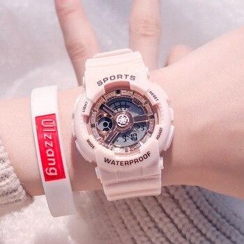 Fashion Women Sport  Watches Waterproof  Trendy Men Ladies Digital Watch Top Brand Rose Gold Lover's Gift Outdoor Quartz Clock