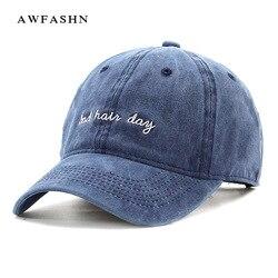 Nouveau mauvais cheveux casquette de jour broderie rétro casquette de Baseball couleur unie Hip Hop chapeau décontracté Snapback lettre été papa camionneur casquette de sport