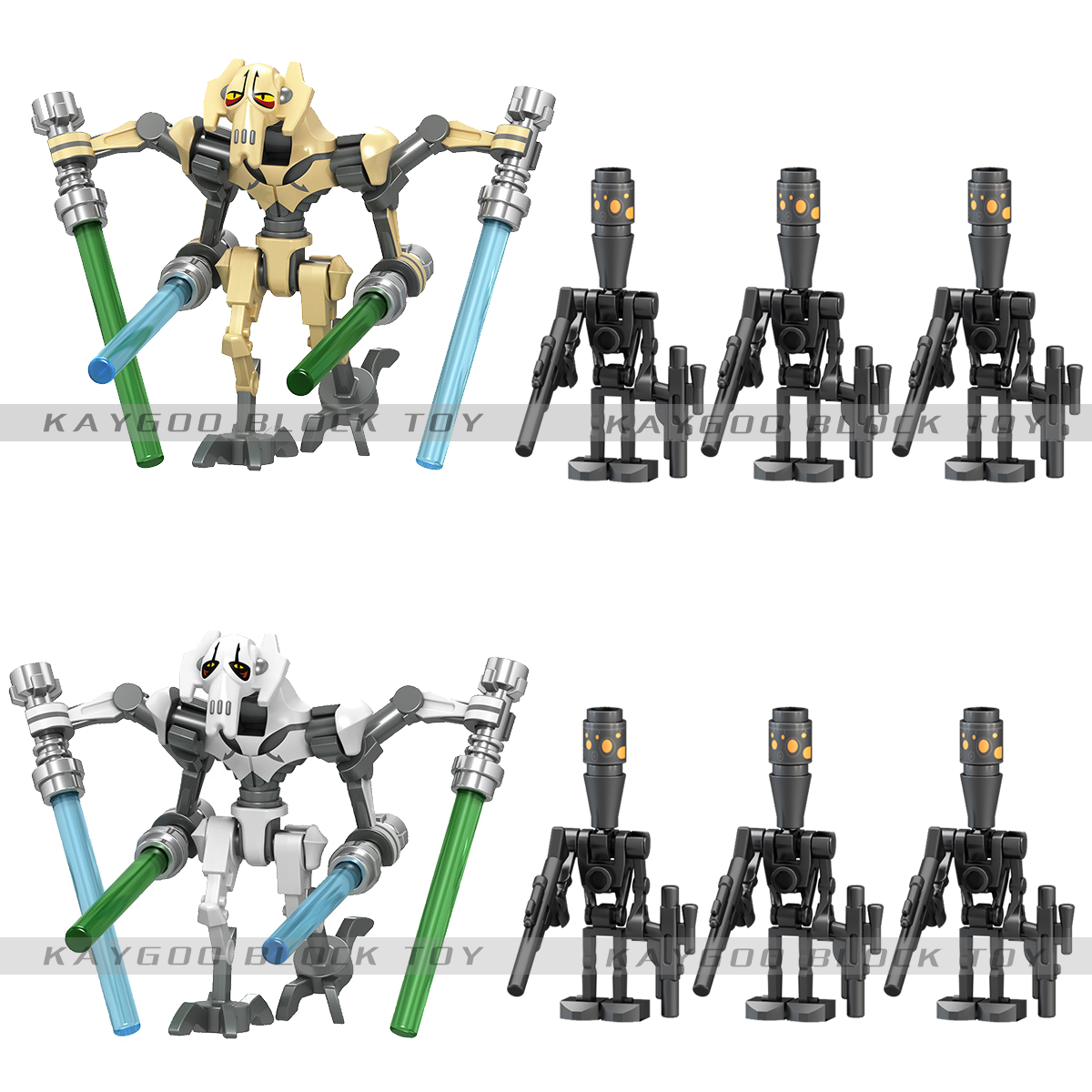 Single Sale Star Space Wars General Grievous Figures Models Building Blocks Brick Model Set Toys For Children Chrismas Gift
