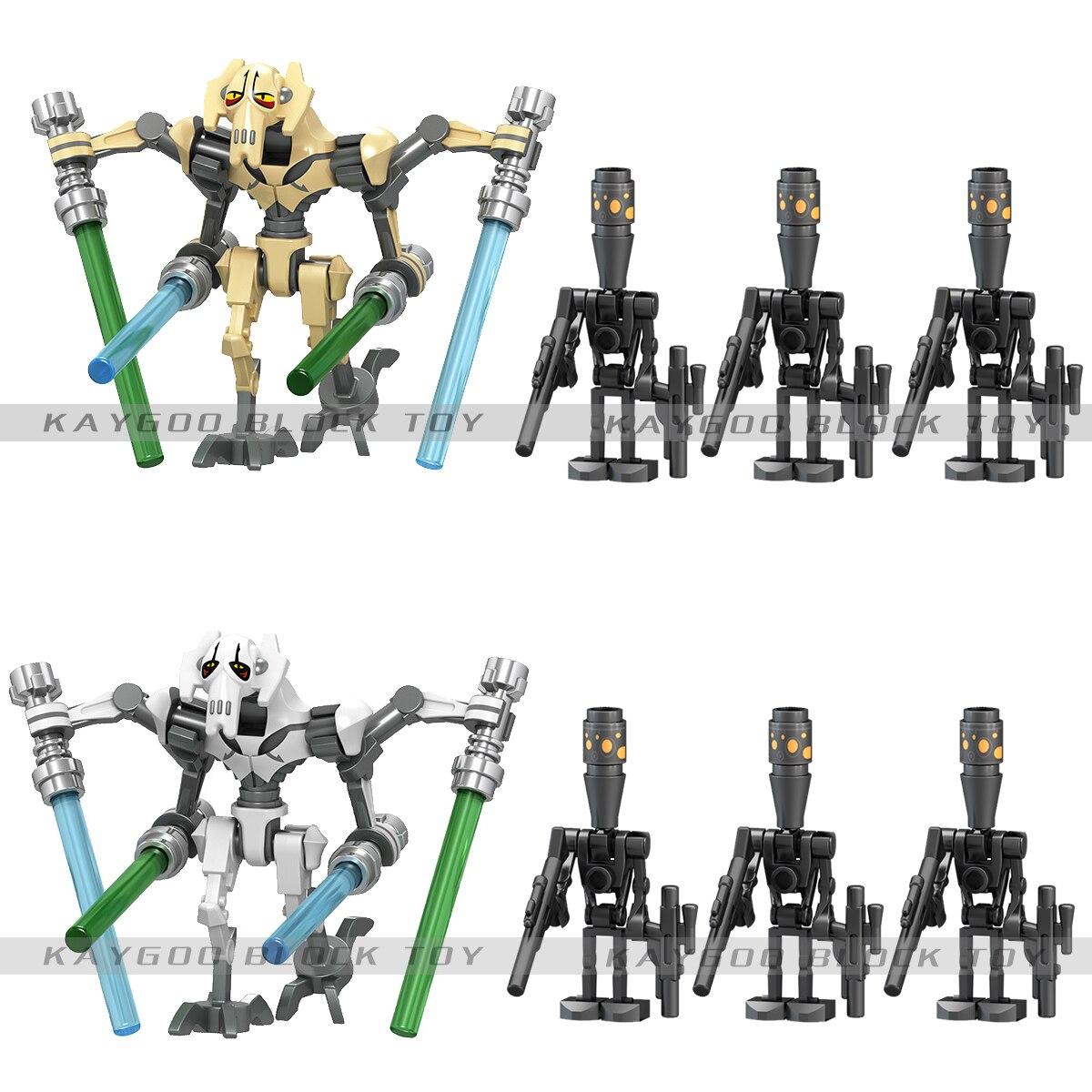 Single Sale Star Space Wars General Grievous Figures Models Building Blocks Brick Model Set Toys For Children Chrismas Gift