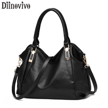 DIINOVIVO Womens Large Handbags Soft PU Leather Bags Women Crossbody Casual Ladies Top-Handle Shoulder Bag Totes Female WHDV1289