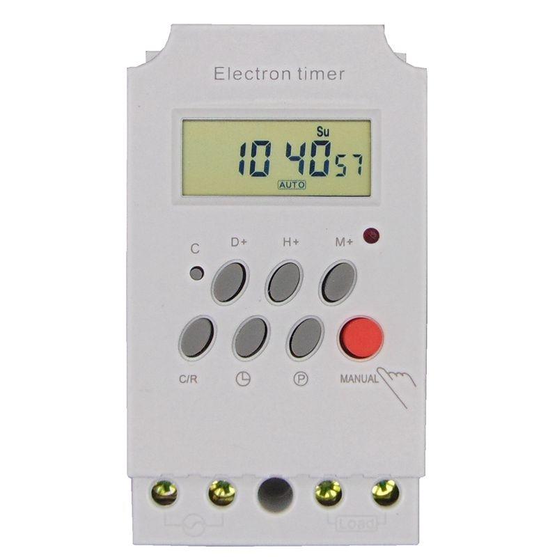 Temporizzatore digitale programmabile DIN RAIL interruttore - Strumenti di misura - Fotografia 3