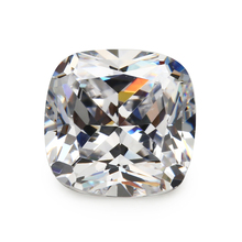 Size 4x4mm ~ 10x10mm 5A Cushion Shape  White Synthetic Cubic Zirconia Stone Loose CZ