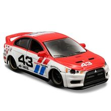 Maisto 1/64 Scale Metal Zinc Alloy Car Model Lancer Evolution Type Mitsubishi for Fans Boys Birthday Gifts