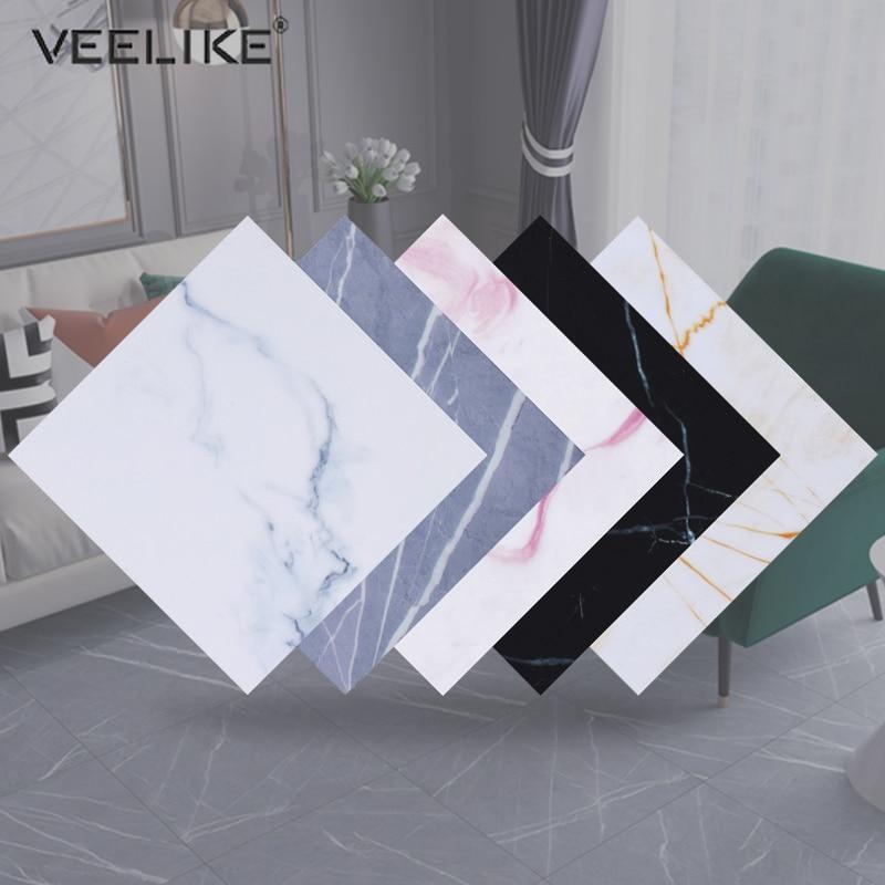 Self-adhesive Marble Wallpaper Waterproof Non-slip Floor Sticker Living Room Floor Contact Paper Kitchen Backsplash Tiles Decals