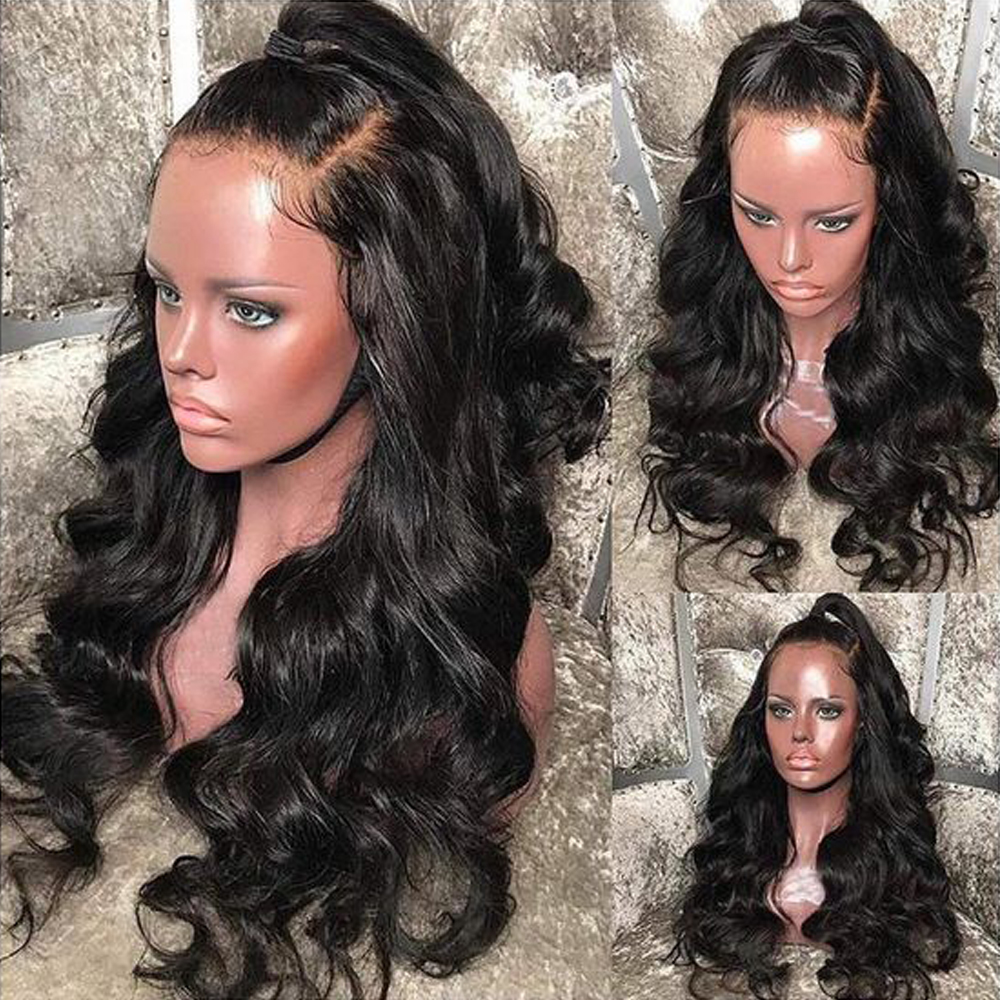 Lace Front  Wig Pre Plucked With Baby Hair  Body Wave Wig 360 Lace  Wigs  3