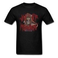 Just Monika Doki Literature Club футуристическая забавная футболка с 3D принтом в стиле панк с короткими рукавами и круглым вырезом, Брендовые повседневны...