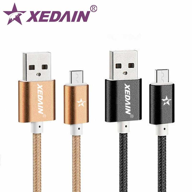 XEDAIN 1M 2M 3M In Metallo Treccia di Nylon Micro USB Cavo del Caricatore per Samsung/Xiaomi/Huawei /SONY Cavo Del Telefono Della Lega di Dati Cavo di Ricarica