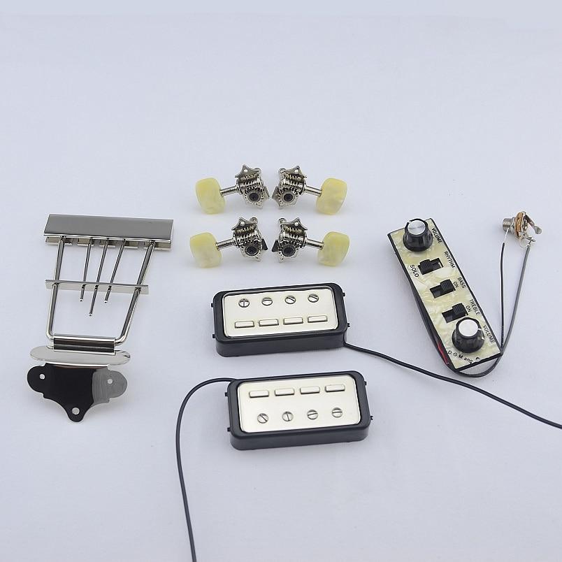 1 Set Original Genuine Hofner HCT500 Series Bass Kit   (  Tuners + Pickups + Trapeze Tailpiece + Control Panel )